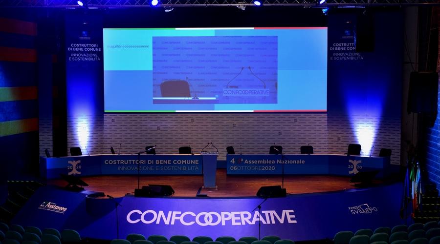 sala massimo auditorium del massimo per Confcooperative 2020